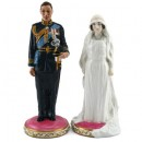Prince Albert & Elizabeth Bowes HN4420/21 - Royal Doulton Figurine