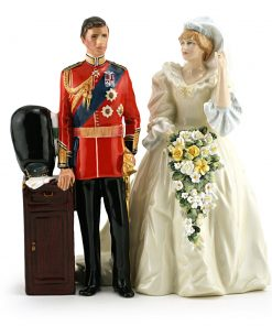 Prince and Princess of Wales set HN2884 & HN2887 - Royal Doulton Figurine