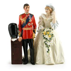 Prince and Princess of Wales set HN2884 & HN2887 - Royal Doulton Figurine