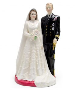 Queen Elizabeth II and Duke of Edinburgh HN3836 - Royal Doulton Figurine