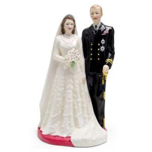Queen Elizabeth II and Duke of Edinburgh HN3836 - Royal Doulton Figurine