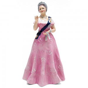 Queen Elizabeth Queen Mother HN2882 - Royal Doulton Figurine