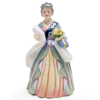 Queen Elizabeth Queen Mother HN3189 - Royal Doulton Figurine