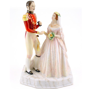 Queen Victoria & Prince Albert HN3256 - Royal Doulton Figurine