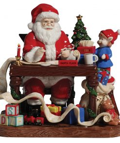 "Santa 2010 ""Santa Makes His List"" HN5468 - Royal Doulton Figurine"