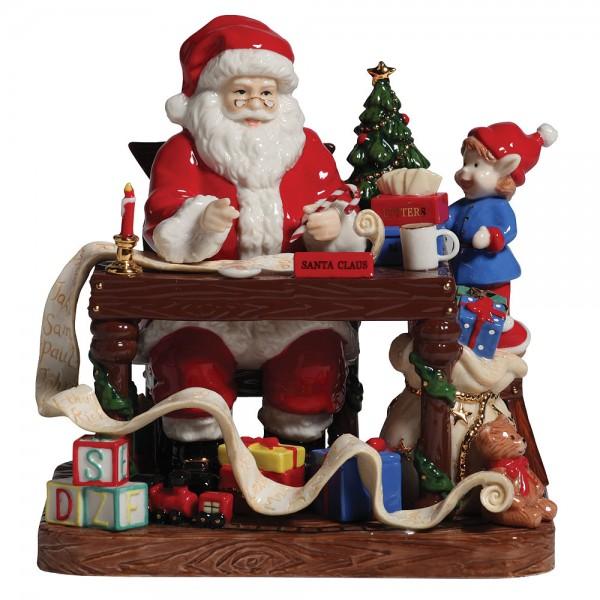 "Santa 2010 ""Santa Makes His List"" HN5468 – Royal Doulton Figurine 1"