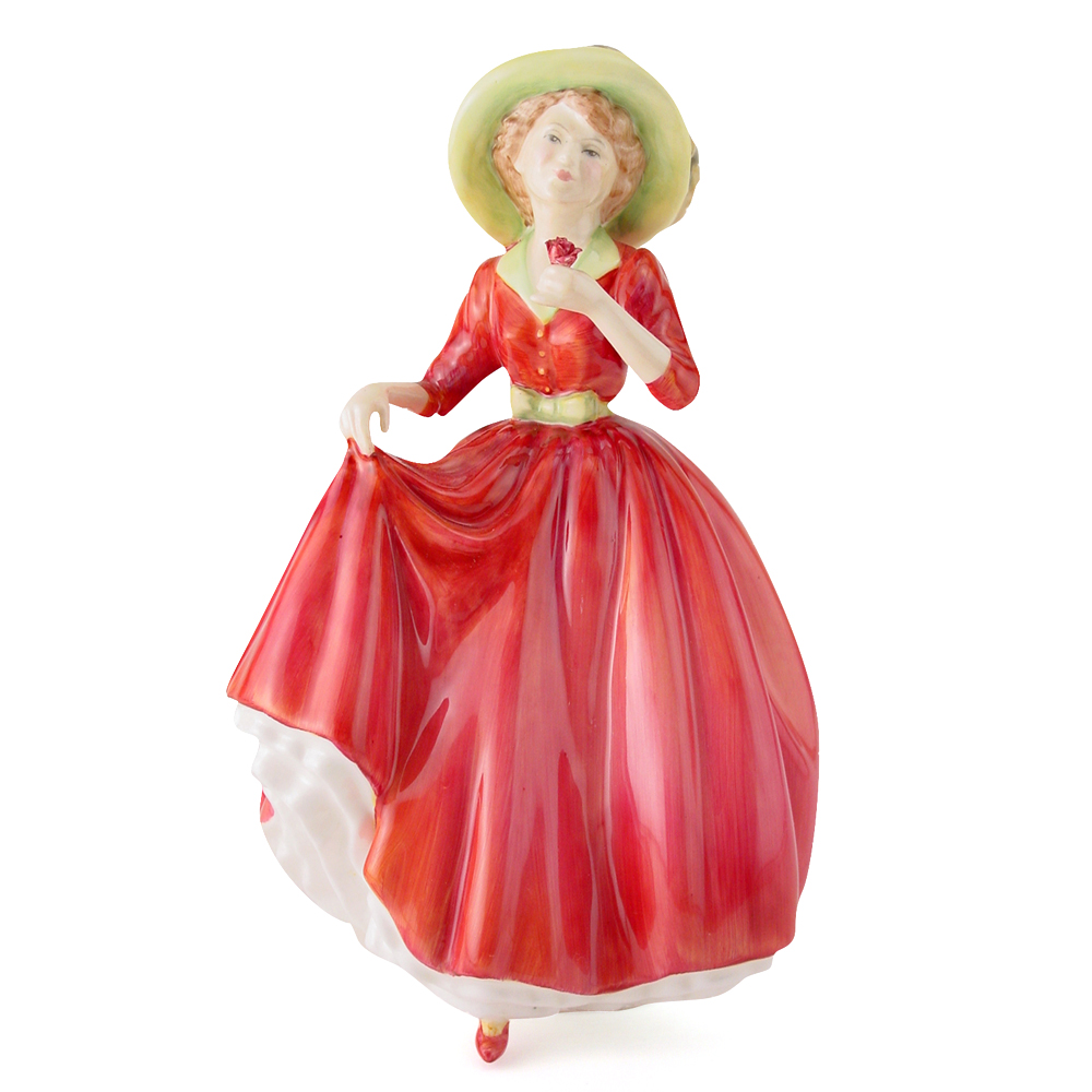 Single Red Rose HN3376 - Royal Doulton Figurine