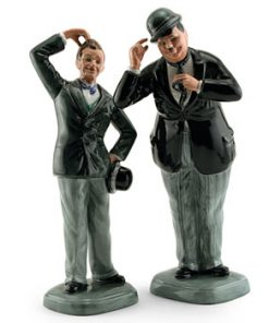 Stan Laurel Oliver Hardy Pair - Royal Doulton Figurine