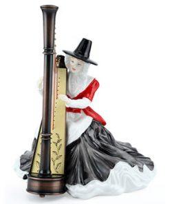 Welsh Lady Harpist HN4968 - Royal Doulton Figurine