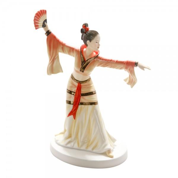 Chinese Fan Dance HN5568 - Royal Doulton Figurine