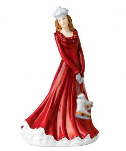 Skating Season HN5675 - 2014 Royal Doulton Christmas Day Petite