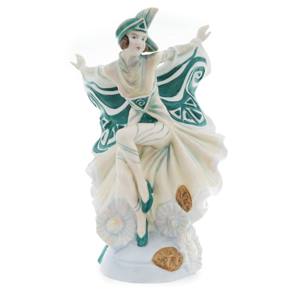 Holly Blue Colorway Green HN5065 From the Butterfly Ladies Series - Royal Doulton Figurine