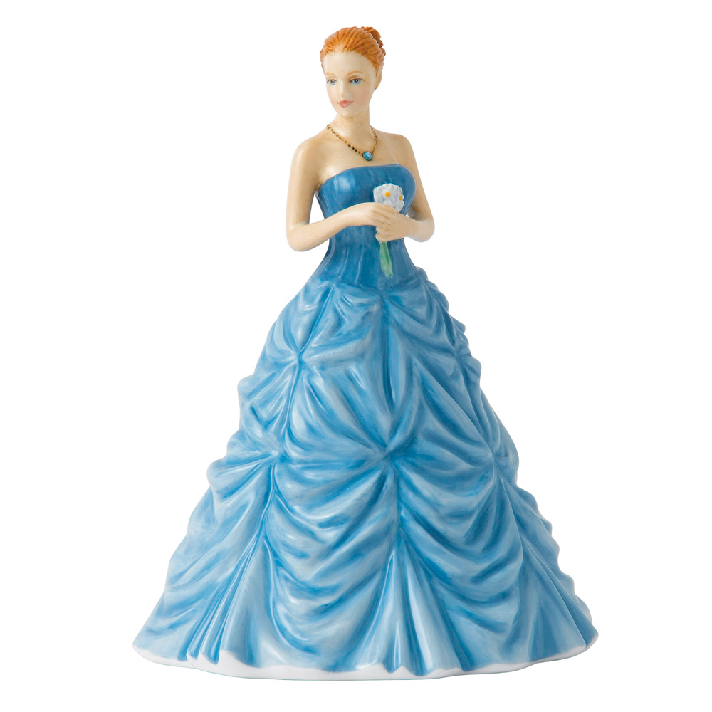 March Aquamarine HN5628 - Royal Doulton Figurine