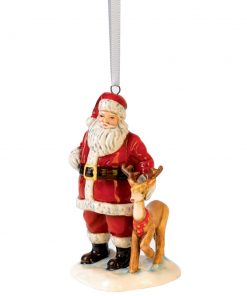 Santa with Reindeer HN5707 - Royal Doulton Ornament Figurine