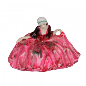 Polly Peachum - Unrecorded Color Variation - Pink and green - Royal Doulton Figurine