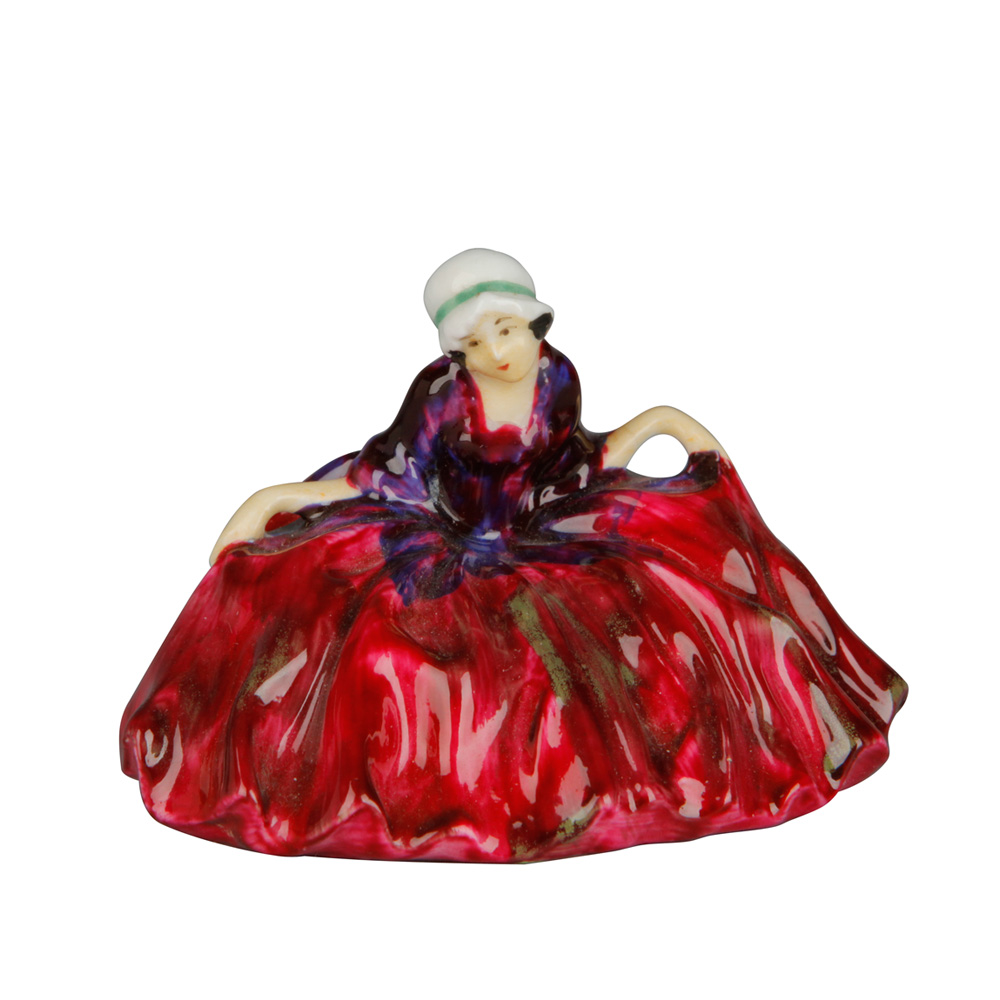 Polly Peachum - Unrecorded Color Variation - Red green and purple - Royal Doulton Figurine