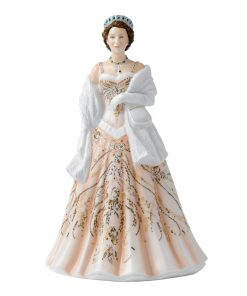 Queen Elizabeth II HN5706 - From the Young Queens Collection - Royal Doulton Figurine
