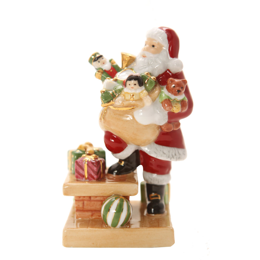 Santa Rooftop Mini HN4714 - Royal Doulton Figurine