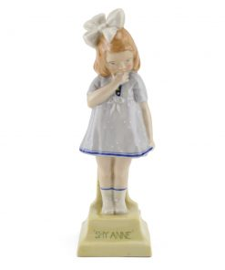 Shy Anne HN65 Pale blue - Royal Doulton Figurine