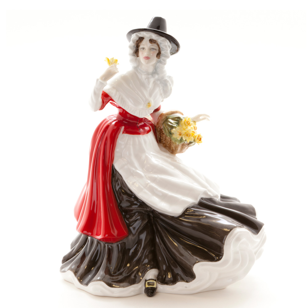 Welsh Lady Springtime HN5136 - Royal Doulton Prestige Figurine