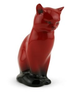 Cat Seated HN109 - Royal Doulton Flambe