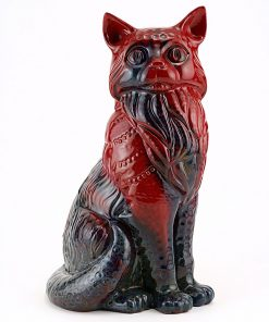 Cat Seated Large - Royal Doulton Flambe