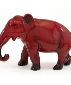 Elephant Trunk Down 4H - Royal Doulton Flambe