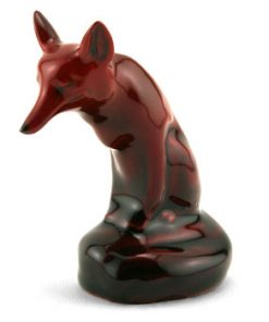Fox Seated HN147C (Small) - Royal Doulton Flambe