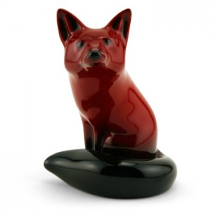 Fox Seated (Small, Style 2) - Royal Doulton Flambe