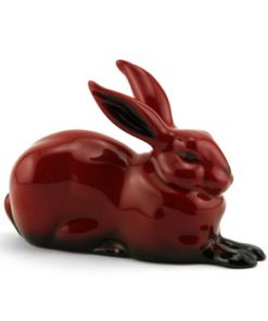 Hare Crouching HN2592 (Ears Up) - Royal Doulton Flambe