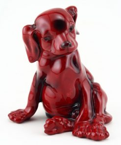 Puppy Seated HN128 - Royal Doulton Flambe