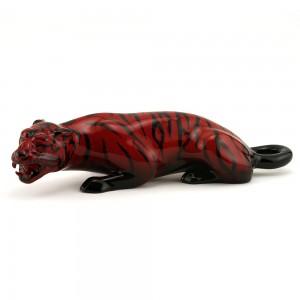 Tiger Crouching HN225 - Royal Doulton Flambe