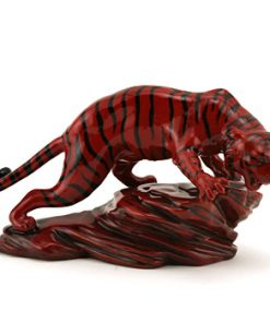 Prestige Tiger on Rock BA71 - Royal Doulton Flambe