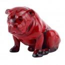 Royal Doulton Flamb Bulldog Seated (HN881) - Royal Doulton Flambe