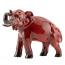 Flambe Elephant (Trunk in Salute - Small) HN891B - Royal Doulton Flambe