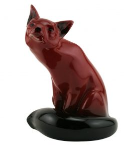Flambe Fox Seated HN130 (Large) - Royal Doulton Flambe