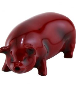 Flambe Pig Standing (Miniature) Model 114 - Royal Doulton Flambe