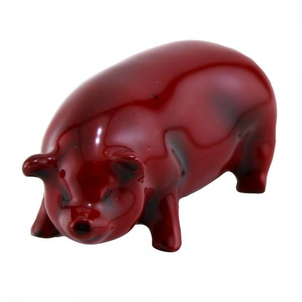 Flambe Pig Standing (Miniature) Model 114 - Royal Doulton Flambe