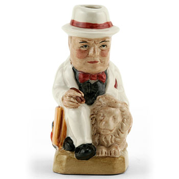 Churchill with Lion (Mini White) - Kevin Francis Toby Jug