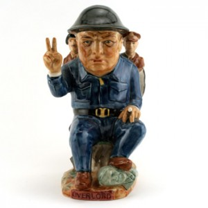 D Day Churchill - Kevin Francis Toby Jug