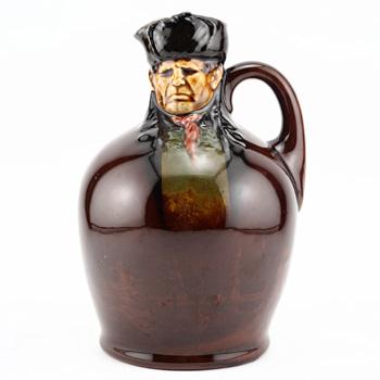 Bill Sykes Modelled Head Flask - Royal Doulton Kingsware