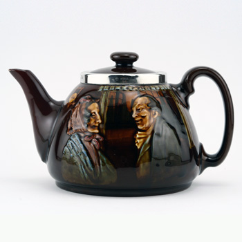 Darby and Joan Teapot - Royal Doulton Kingsware