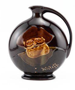 Falstaff Flask Circular - Royal Doulton Kingsware