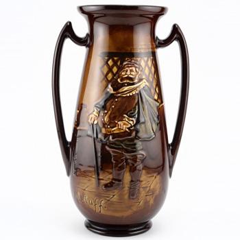 Falstaff Vase Double Handle - Royal Doulton Kingsware