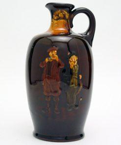 Gillie and Fisherman Bottle - Royal Doulton Kingsware