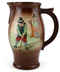 Golfing Pitcher (Airbrushed design) - Royal Doulton Kingsware