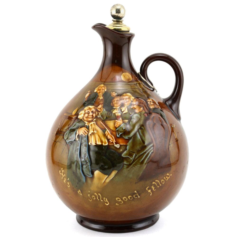 Hes a Jolly Good Fellow Bottle - Royal Doulton Kingsware