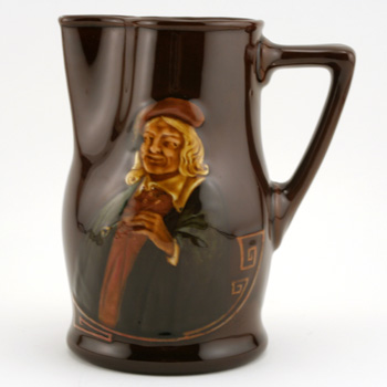 """Hogarth Pitcher """"It's hard for an empty bag..."""" - Royal Doulton Kingsware"""