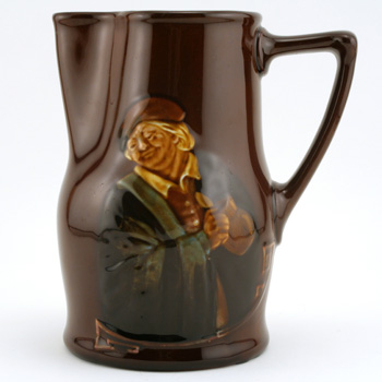 """Hogarth Pitcher, """"Would you know the value of"""" - Royal Doulton Kingsware"""