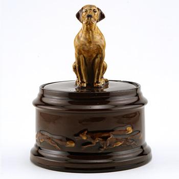 Hound Tobacco Jar - Royal Doulton Kingsware